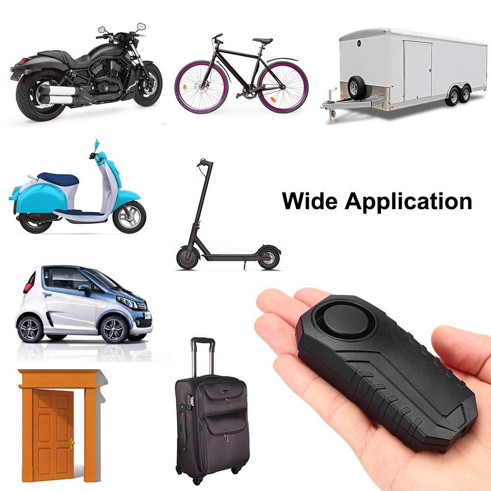 113dB Wireless Anti-Theft Vibration Motorcycle Bike Security Alarm Lock W//Remote