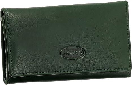 Piel Estuche llavero bolsillo para llaves Llave carpeta con 6 ganchos en plata imitación VERS. Colores Nuevo verde: Amazon.es: Deportes y aire libre