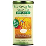 The Republic Of Tea Decaf Ginger Peach Green Tea, 50 Tea Bags, Spicy Ginger Tea Gourmet Blend