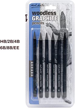 Artist Charcoal Sticks 24 PCS Professional Manga Sketch Drawing Charcoal Pencil Black//Pencil drawing sketch pencil without wood Whole Lead Core 8B