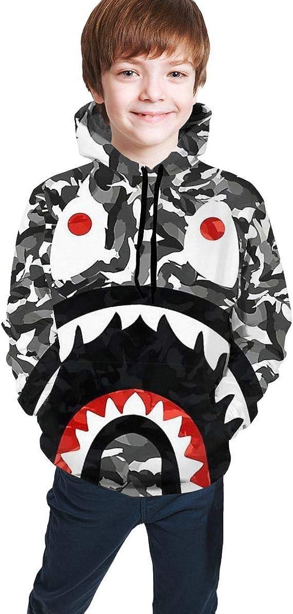 Kids' Youth B-ape Casual Pullover Hoodie Hoodies Hooded Sweatshirt for Teen Boys and Girls