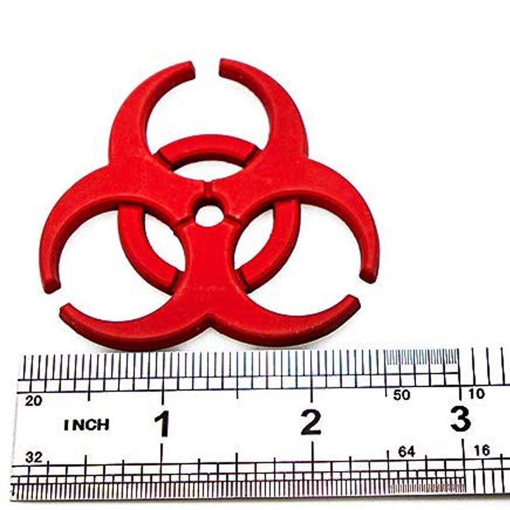 Red HINSTS 2 pcs//set 3D Resident Evil metal badge car logo protection umbrella biochemical modification 3D emblem Car Motorcycle Decal Emblem