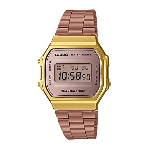 0fd726752deb Buy Casio Vintage Series Digital Brown Dial Unisex Watch - A168WECM-5DF  (D157) Online at Low Prices in India - Amazon.in