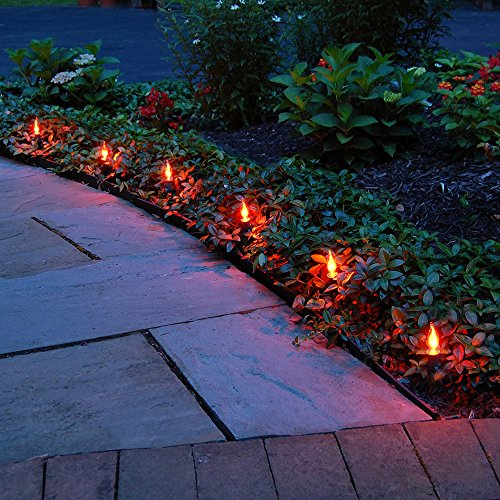 Halloween Driveway Lights (Lumabase 61310 Orange Flicker Electric Pathway)