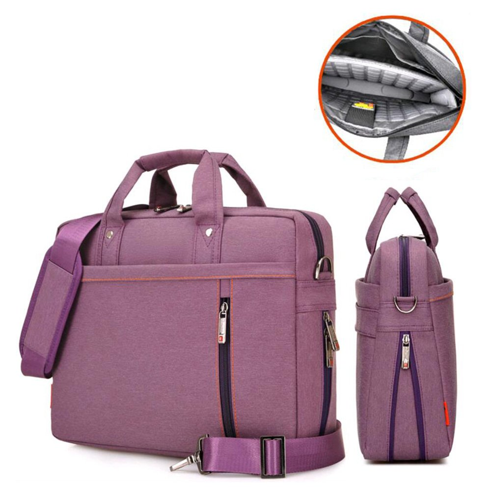 Laptop Case,SNOW WI- 12-13.3 Inch Fashion Durable Multi-functional waterproof Laptop Shoulder Bag Briefcase Case for MacBook Air,MacBook Pro,Acer,Asus,Dell,Lenovo,HP,Samsung,Sony,Toshiba(Purple) by SNOW WI (Image #3)