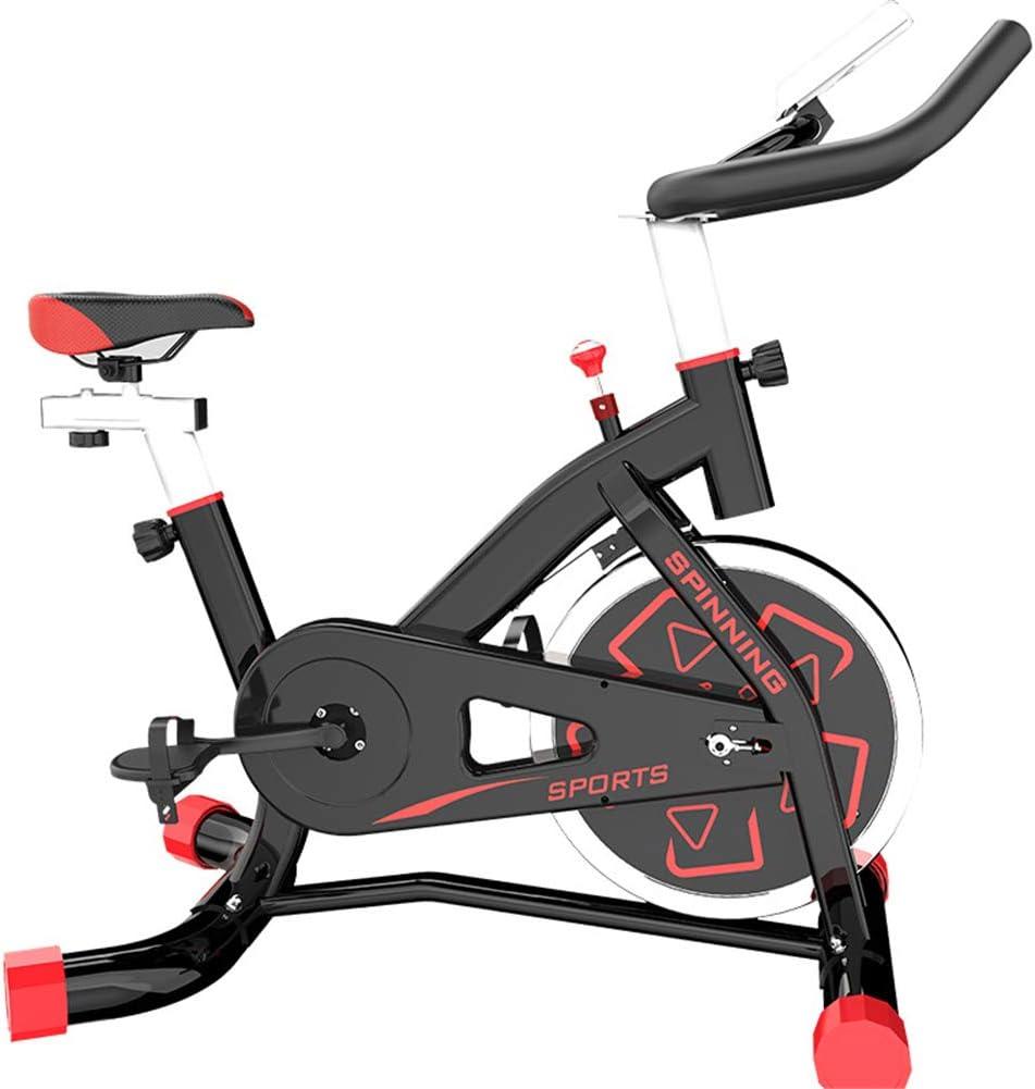 ZHANGY Bicicleta de Ejercicio Profesional para Interiores con Volante de inercia de 10 kg Fitness Bike Trainer con susurro silencioso transmisión por Correa Cardio Workout 100 KG Peso máximo