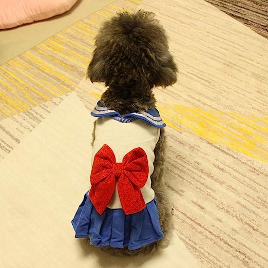 Colegio viento niña falda falda para perros vestido de primavera y ...