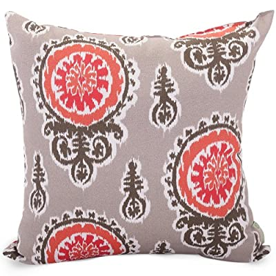 Majestic Home Goods Pillow, X-Large, Michelle, Salmon - Made in USA Outdoor Treated Polyester Spot Clean Only - patio, outdoor-throw-pillows, outdoor-decor - 61uMuSabrcL. SS400  -