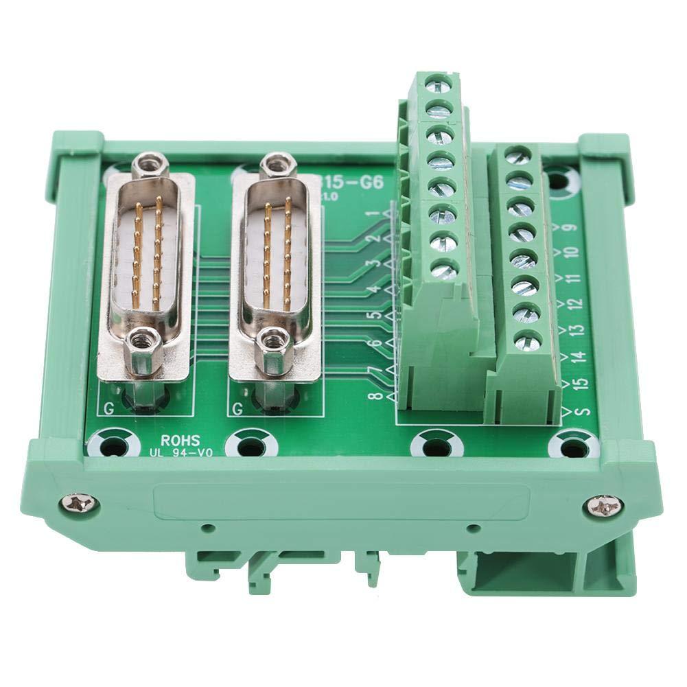 DB15-G6 Double Male Head DIN Rail Mount Interface Module Terminal Block Board Connector Double Male Terminal Block