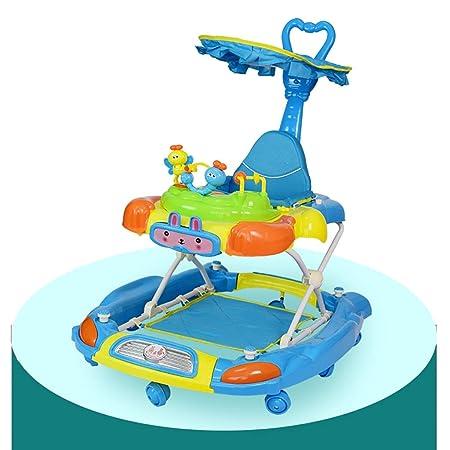 LFY Andador para bebés con empuñadura y toldo, en Forma de U ...