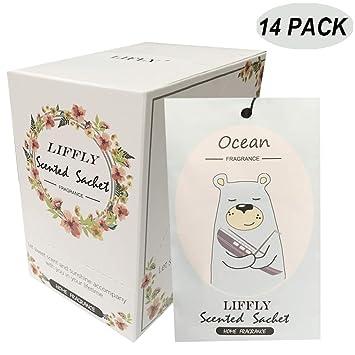 Amazon.com: 14 paquetes de bolsitas aromáticas para cajones ...