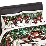 Collections Etc Snow Horses Pillow Sham
