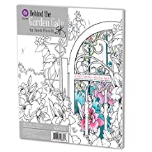 Prima Marketing 655350588328 Behind The Garden Gate Adult Coloring Book