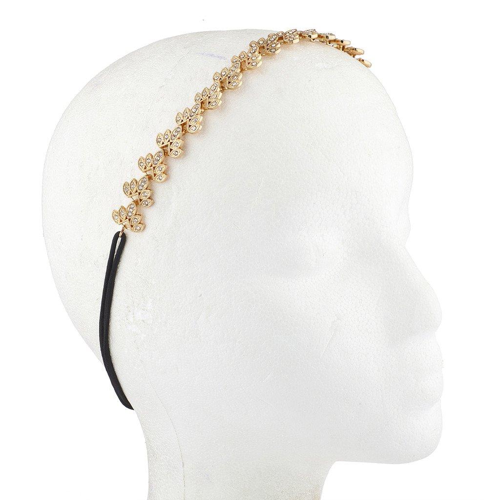 filigranes Design Lux Accessories Haarreif goldfarben f/ür besondere Anl/ässe