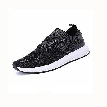 YIXINY Schuhe Leichtgewicht Herrenschuhe Mesh-Tuch Jeden Tag Sport Und Freizeit Tourist Laufschuhe Wandern Jugend ( Farbe : Schwarz , größe : EU41/UK7.5-8/CN42 )