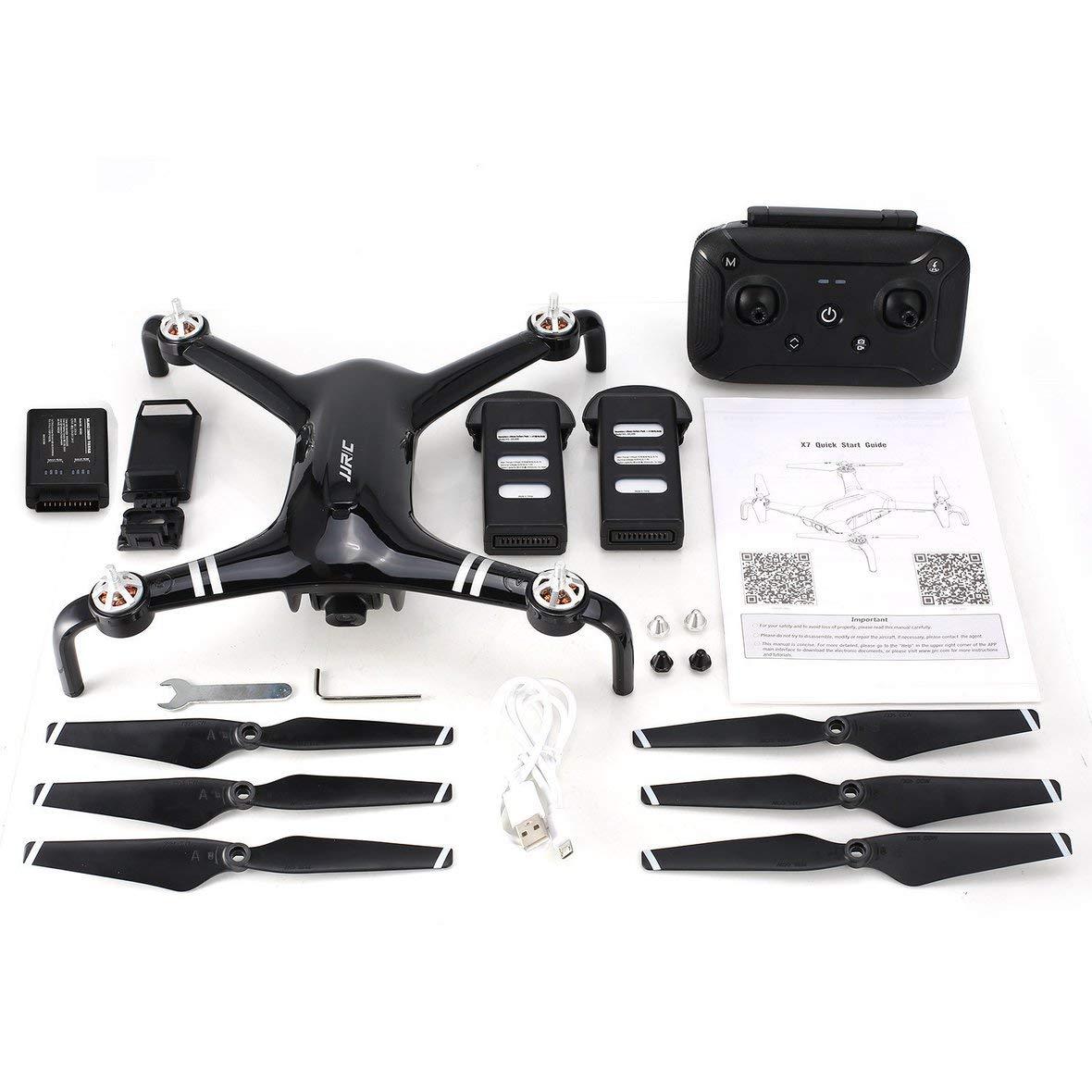 Heaviesk Für JJR   C X7 SMART RC Hubschrauber Brushless Motor RC Drohne mit 5G WiFi FPV 1080P HD Kamera GPS Quadcopter Doppelbatterien