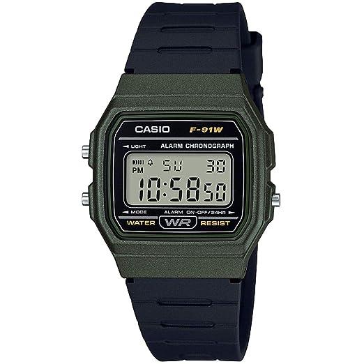 Casio Reloj Digital para Unisex de Cuarzo con Correa en Resina F-91WM-3AEF: Amazon.es: Relojes