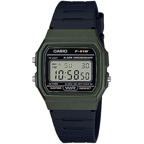Casio Reloj Digital para Unisex de Cuarzo con Correa en Resina F-91WM-3AEF   Amazon.es  Relojes 4daa3cea3c6f