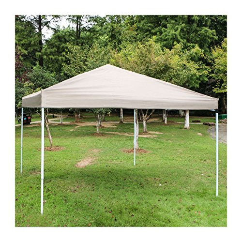 Sun 10 x 10 inch Outdoor Camping Party Pop Up Canopy Tent Portable Shade Instant Folding Gazebo with Carry Bag (Brown)