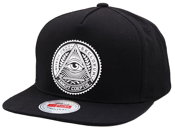 sujii ILLUMINATI EYE Snapback Hat Baseball Cap Trucker Hat - Archetype Black 2c653b8aa18