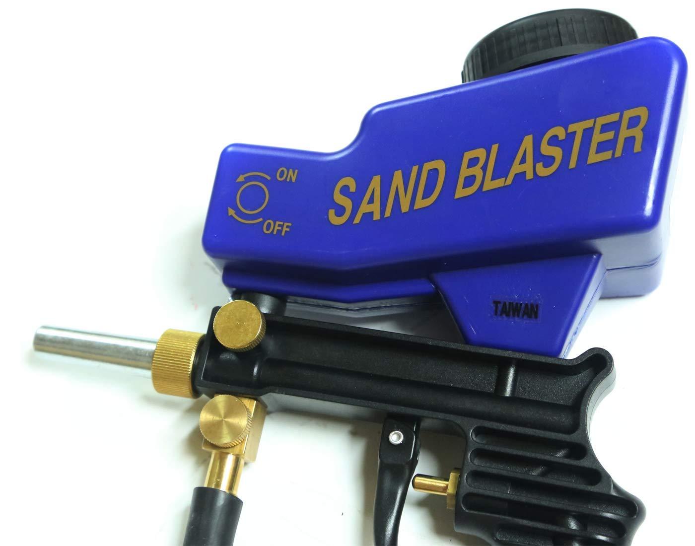 Improved Sandblaster Sand Blaster Gun Kit, Soda Blaster, Professional Sand Blasters, Media Sandblaster Gun, Spot Blaster, Media Blaster Sandblast Gun, Walnut, Bead, Sand Blast Blasting Equipment. (A by LE LEMATEC (Image #3)