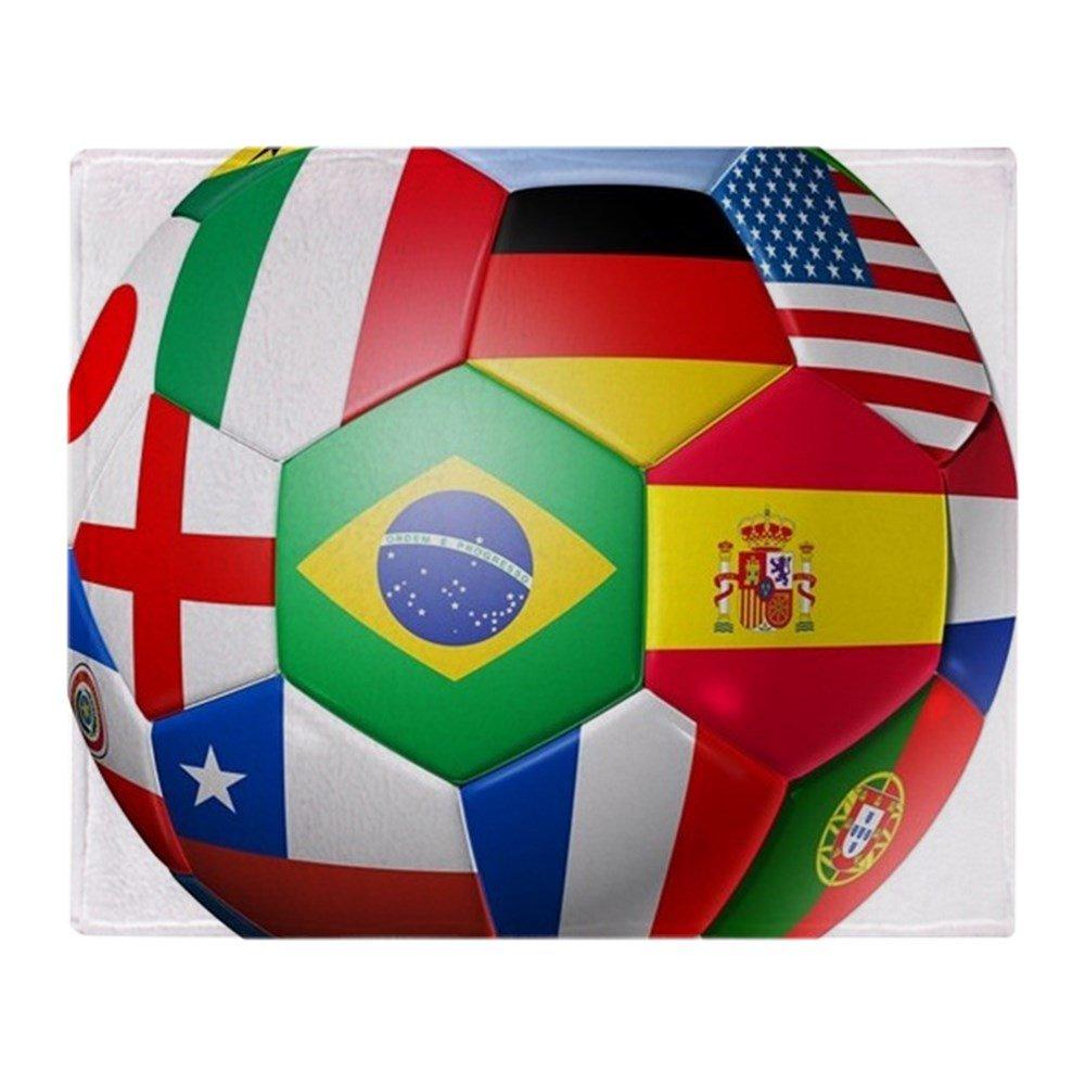 CafePress equipo de fútbol balón de fútbol – con mundo – suave ...