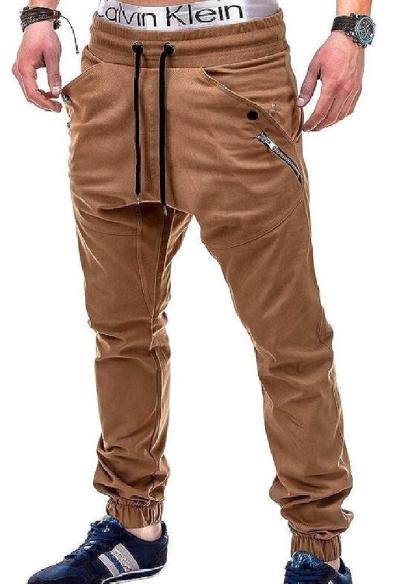 CBTLVSN Mens Zip Up Running Pants Sports Lounge Jogger Pant Trousers