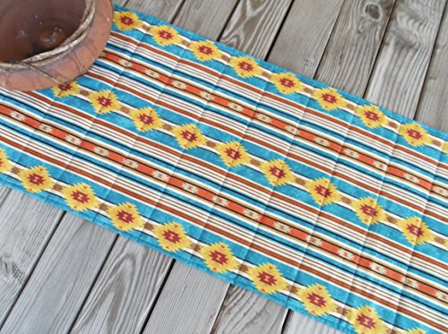 Aztec Southwestern Quilted Fabric Table Runner or Sideboard Runner 70 inches