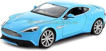 Aston Martin Vanquish Light Blue 0 Model Car Ready Made Welly 1 24 Model Amazon De Spielzeug