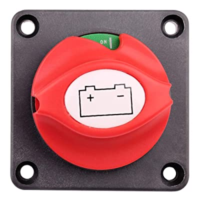 Battery Disconnect Switch, 6V 12V 24V 48V Battery Kill Master Cut Shut Off Switch for Marine Boat RV ATV UTV Vehicles, Waterproof Heavy Duty Battery Isolator Switch, 275/1250 Amps: Automotive