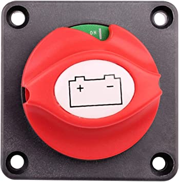 Elitezip Battery Disconnect Switch Cut Off 12V-24V Battery Isolator Master Disconnect Power Cut Off for RV Truck Car Vehicle and Boat