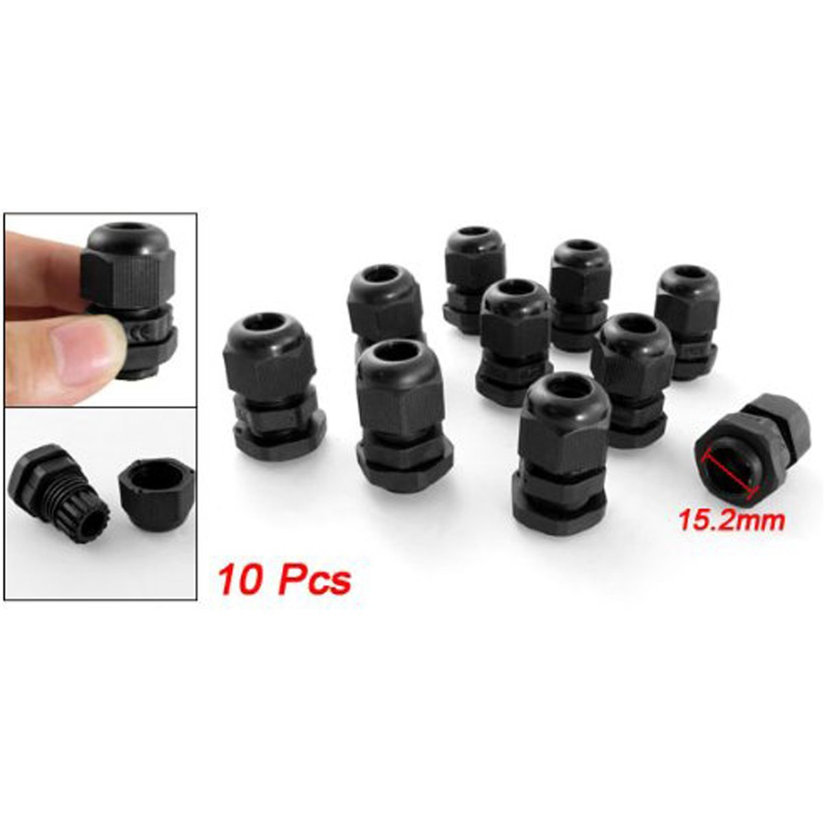 YXQ Stainless Steel PG7 3.0-6.5mm Waterproof Connector Cable Gland 3 Pcs