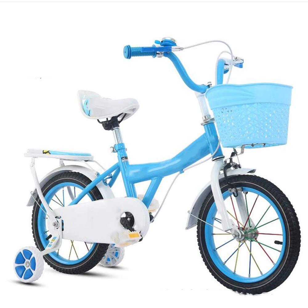 Los mejores precios y los estilos más frescos. Azul 12in Axdwfd Infantiles Bicicletas Bicicletas Bicicletas Bicicletas para niños 12 14 16 Pulgadas, Bicicleta para niños con Rueda de Entrenamiento Regalo para niños y niñas de 2 a 8 años  más vendido