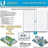 Ubiquiti UniFi AP AC Mesh UAP-AC-M-PRO PRE CONFIGURED 802.11ac 3x3 MIMO Outdoor Wi-Fi Access Point(2 Units)