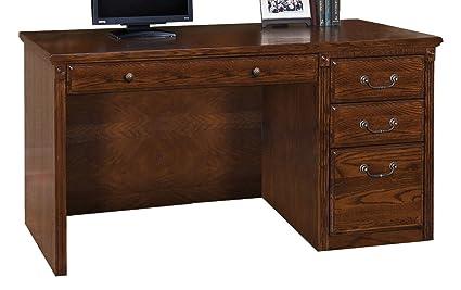 Superieur Martin Furniture Huntington Oxford Single Pedestal Computer Desk, Burnish  Finish, Fully Assembled