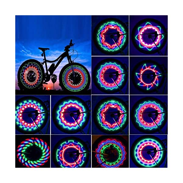 TGJOR Bike Wheel Lights, LED Waterproof Bicycle Spoke Tire Light with 32-LED and...