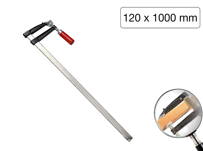 Schraubzwinge Tempergu/ß 1000 x 120 mm mit Holzgriff