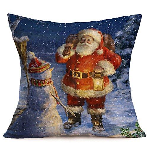 Mickey Mouse Fish Pregnant (Succper Christmas Pillowcase Merry Christmas Throw Pillowcase Santa Claus Home Decor Cushion Cover for Sofa)