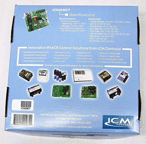 ICM Controls ICM2807 Furnace Control Board OEM Replacement Carrier for 325879-751 and HK42FZ017 by ICM Controls (Image #3)