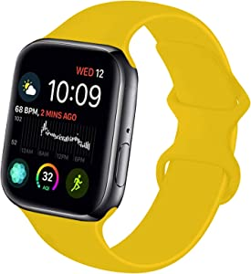 NUKELOLO Sport Band Compatible with Apple Watch 38MM 40MM 42MM 44MM,Soft Silicone Replacement Strap Compatible for Apple Watch Series 6/5/4/3/2/1/SE
