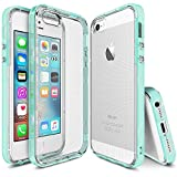 iPhone SE Case - Ringke FRAME **Dual-Layered TPU Bumper and PC ** [FROST MINT] Drop Protection Clear Back Shock Absorption Protective Bumper for Apple iPhone SE / 5S / 5