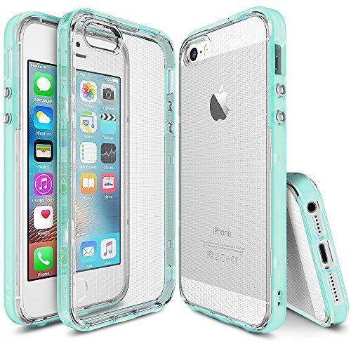 Funda iPhone SE / 5S / 5 - Ringke FRAME** doble-capa reforzada de TPU de parachoques superior ** [Frost Mint] pegatina de...