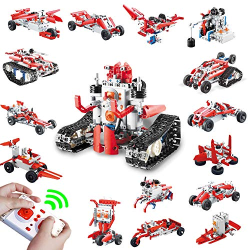 16 in 1 Remote Control STEM Building Blocks Robot - 458 PCS RC Car Kit - Kids Toys Age 6-12 - Perfect Educational Toy Gift for Kids