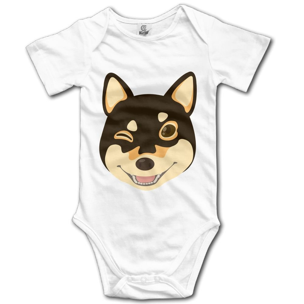 Rainbowhug Shiba Inu Dog Unisex Baby Onesie Lovely Newborn Clothes Concise Baby Outfits Soft Baby Clothes