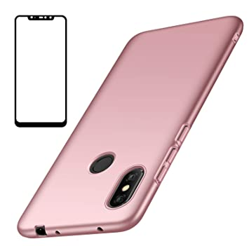 UCMDA Funda Xiaomi Redmi Note 6 Pro, Carcasa Xiaomi Redmi Note 6 Pro con Protector de Pantalla, Fundas [Anti-Arañazo] Duro para Xiaomi Redmi Note 6 ...