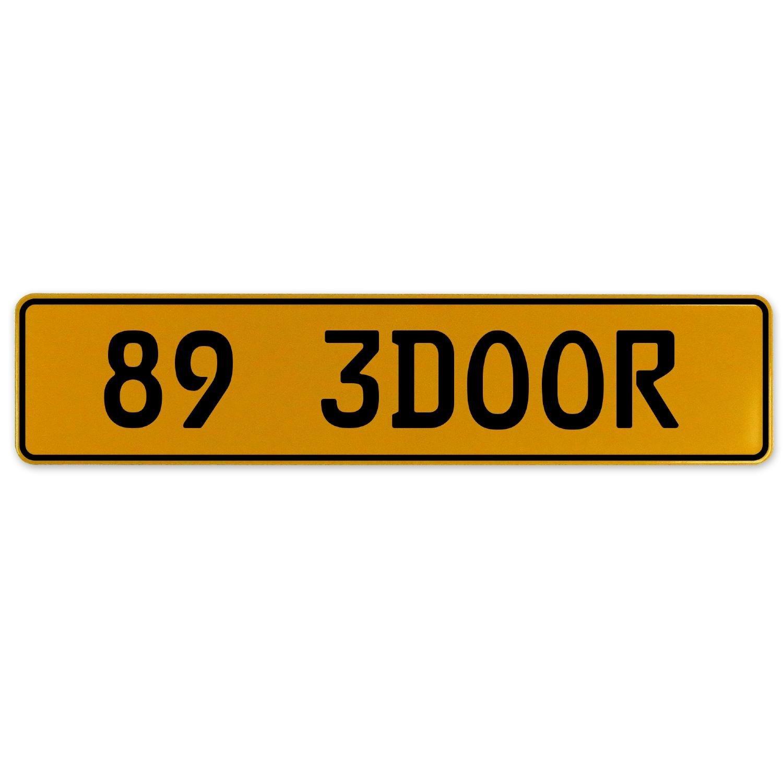 Vintage Parts 563102 89 3DOOR Yellow Stamped Aluminum European Plate