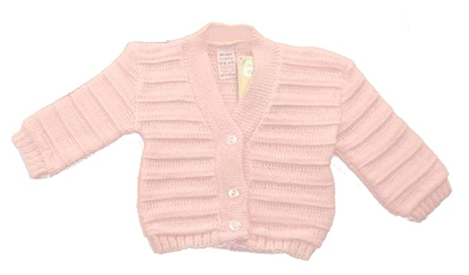 341a132b2df7 Baby Soft Knitted Cardigan All Seasons B066 White Pink or Sky Blue ...