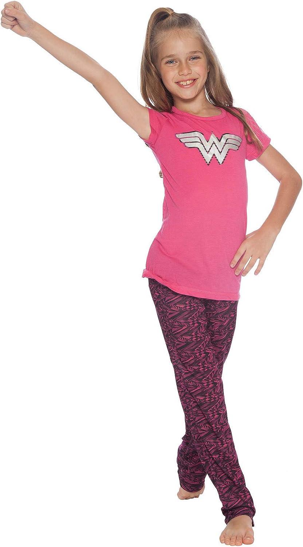 Girls Pyjamas DC Comics Pjs Retro Wonder Woman Print Nightwear 3 to 10 Years