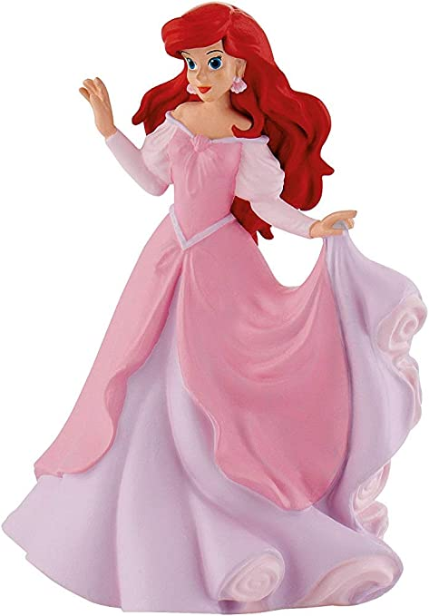 Amazon Com Disney Ariel Princess Mermaid With Pink Dress Birthday Party Cake Toppers Topper Toys Games
