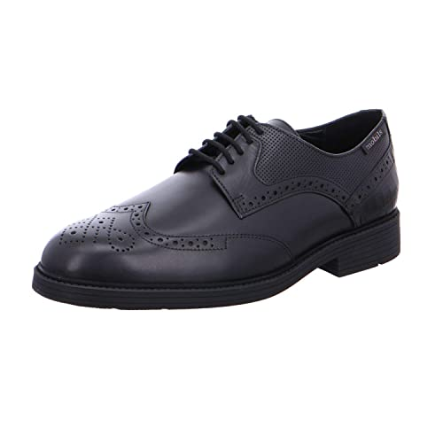 57827b2ad9888 Mephisto Mobils Fernand Black Leather lace-up Shoe for Wide feet (6(UK